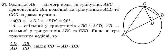 ГДЗ по геометрии 9 класс Погорєлов О.В. Параграф 11. Задание: 61