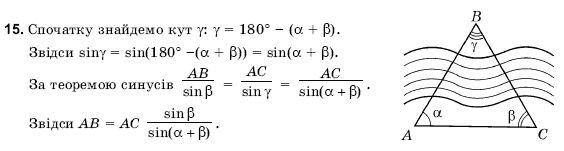 ГДЗ по геометрии 9 класс Погорєлов О.В. Параграф 12. Задание: 15