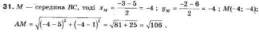 ГДЗ по геометрии 9 класс Апостолова Г.В. Разділ 1. Координатна площина. Тригонометричні функціі кутів від 0 до 180, § 1 Декартова система координат, Завдання 2. Задание: 31