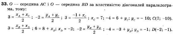 ГДЗ по геометрии 9 класс Апостолова Г.В. Разділ 1. Координатна площина. Тригонометричні функціі кутів від 0 до 180, § 1 Декартова система координат, Завдання 2. Задание: 33