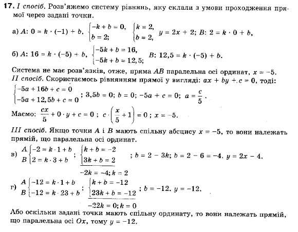 ГДЗ по геометрии 9 класс Апостолова Г.В. Разділ 1. Координатна площина. Тригонометричні функціі кутів від 0 до 180, § 2 Рівняння прямої, Завдання 3. Задание: 17