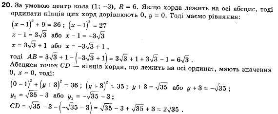 ГДЗ по геометрии 9 класс Апостолова Г.В. Разділ 1. Координатна площина. Тригонометричні функціі кутів від 0 до 180, § 3 Взаємне розміщення двох прямих, Завдання 4. Задание: 20