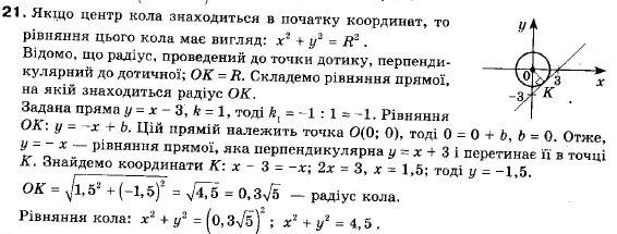 ГДЗ по геометрии 9 класс Апостолова Г.В. Разділ 1. Координатна площина. Тригонометричні функціі кутів від 0 до 180, § 3 Взаємне розміщення двох прямих, Завдання 4. Задание: 21