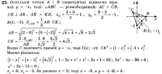 ГДЗ по геометрии 9 класс Апостолова Г.В. Разділ 1. Координатна площина. Тригонометричні функціі кутів від 0 до 180, § 3 Взаємне розміщення двох прямих, Завдання 4. Задание: 23
