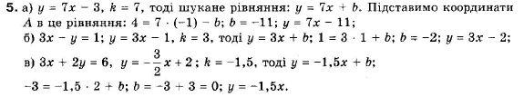 ГДЗ по геометрии 9 класс Апостолова Г.В. Разділ 1. Координатна площина. Тригонометричні функціі кутів від 0 до 180, § 3 Взаємне розміщення двох прямих, Завдання 4. Задание: 5