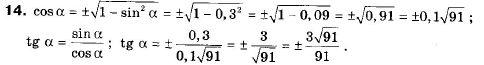 ГДЗ по геометрии 9 класс Апостолова Г.В. Разділ 1. Координатна площина. Тригонометричні функціі кутів від 0 до 180, § 4 Тригонометричні функціі кутів від 0 до 180, Завдання 5. Задание: 14