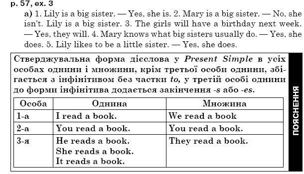 ГДЗ по английскому языку 5 класс А.М. Несвiт Unit 2, Урок9. Задание: стр. 57, упр.3