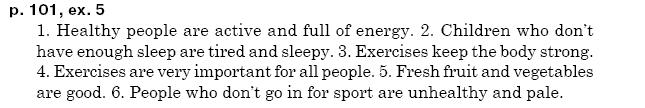ГДЗ по английскому языку 5 класс А.М. Несвiт Unit 5, Урок1. Задание: стр. 101, упр.5