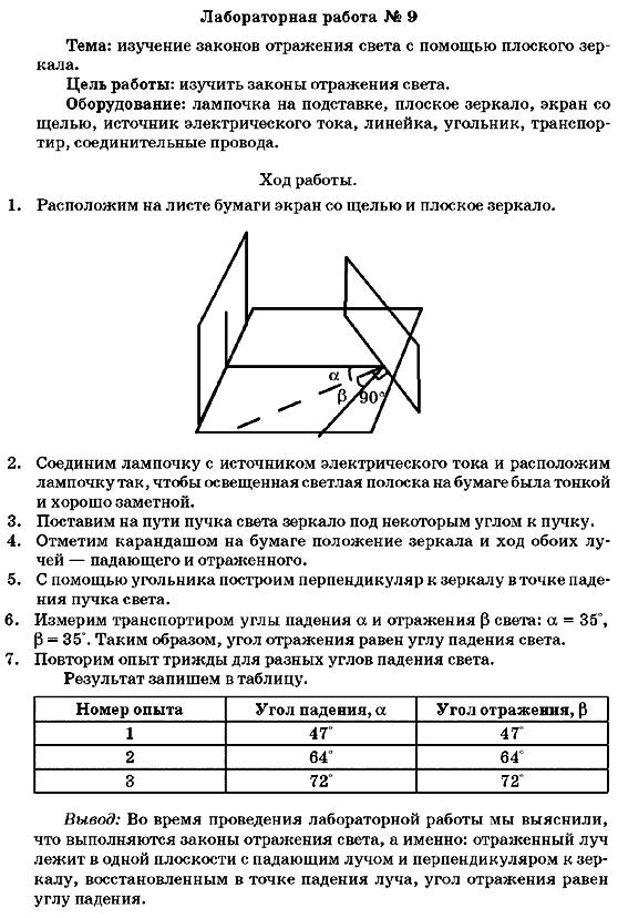 лабораторная работа по физике 9 класс номер 3 генденштейн