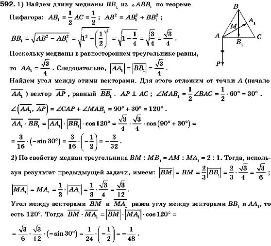 ГДЗ по геометрии 9 класс Мерзляк А.Г., Полонский В.Б., Якир М.С. (для русских школ) 3. Декартовые координаты на плоскости, 4. Векторы. Задание: 592