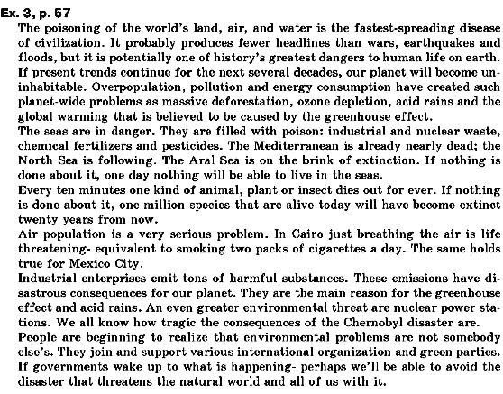 ГДЗ відповіді робочий зошит по английскому языку 10 класс О.Д. Карпюк. Задание: ex.3, p.57