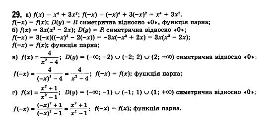 ГДЗ по математике 11 класс Бевз Г.П., Бевз В.Г., Владімірова Н.Г. §1. Функції та їх основні властивості. Задание: 29