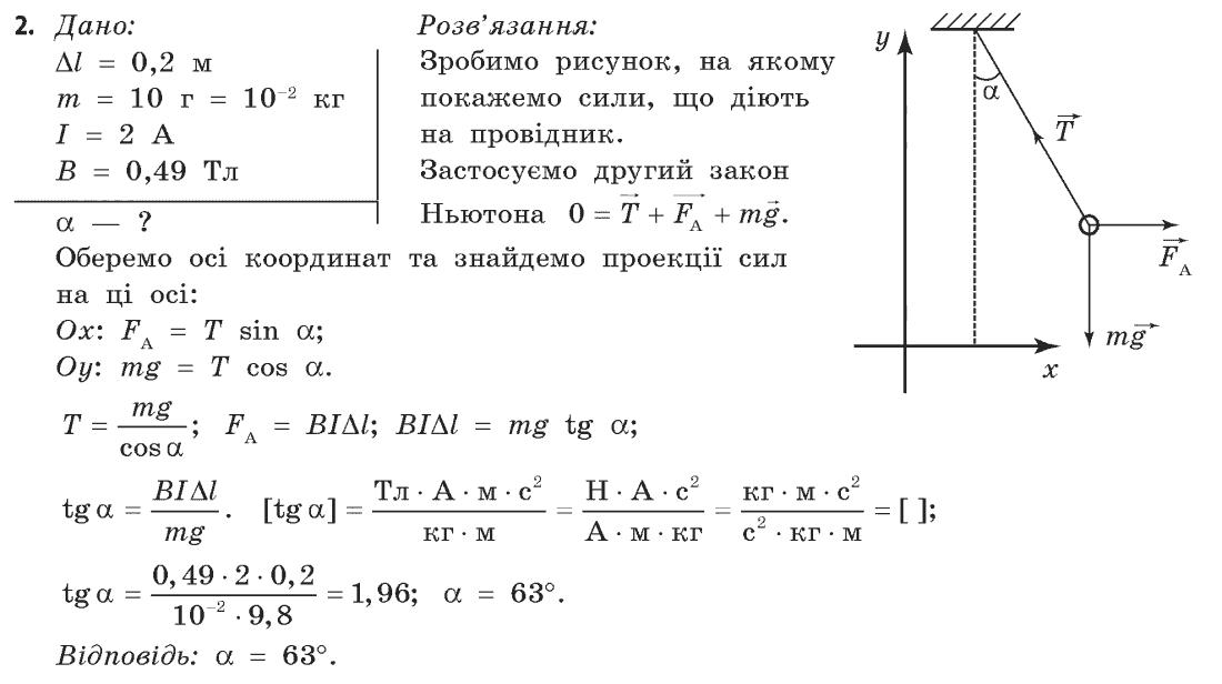 ГДЗ по физике 11 класс Коршак Є.В., Ляшенко О.І., Савченко В.Ф. Розділ 2, Вправа 14. Задание: 2
