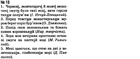 ГДЗ по рiдна/укр. мова 8 класс А.А. Ворон. Задание: 18
