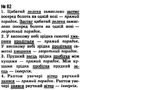 ГДЗ по рiдна/укр. мова 8 класс А.А. Ворон. Задание: 82