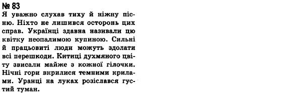ГДЗ по рiдна/укр. мова 8 класс А.А. Ворон. Задание: 83