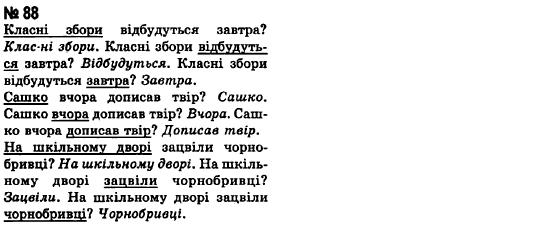 ГДЗ по рiдна/укр. мова 8 класс А.А. Ворон. Задание: 88