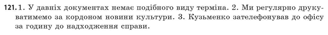 ГДЗ по рiдна/укр. мова 11 класс Г.Т. Шелехова, Н.В. Бондаренко, В.І. Новосёлова. Задание: 121