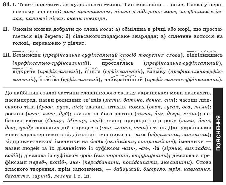 Біляєв гдз укр мова 10 клас