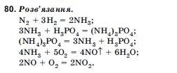 ГДЗ по химии 10 класс Н.М.Буринська, Л.П. Величко § 12. Солі амонію. Задание: 80