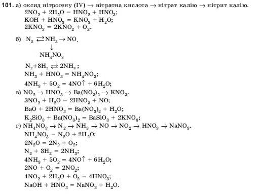 ГДЗ по химии 10 класс Н.М.Буринська, Л.П. Величко § 16. Нітрати. Азотні добрива. Задание: 101