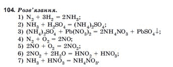 ГДЗ по химии 10 класс Н.М.Буринська, Л.П. Величко § 16. Нітрати. Азотні добрива. Задание: 104
