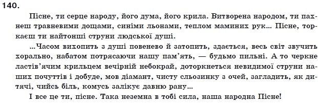 ГДЗ по рiдна/укр. мова 11 класс О.Б. Олiйник. Задание: 140