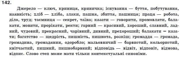 ГДЗ по рiдна/укр. мова 11 класс О.Б. Олiйник. Задание: 142