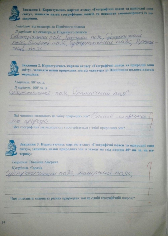 ГДЗ відповіді робочий зошит по географии 7 класс Варакута О., Швець Є.. Задание: стр. 14