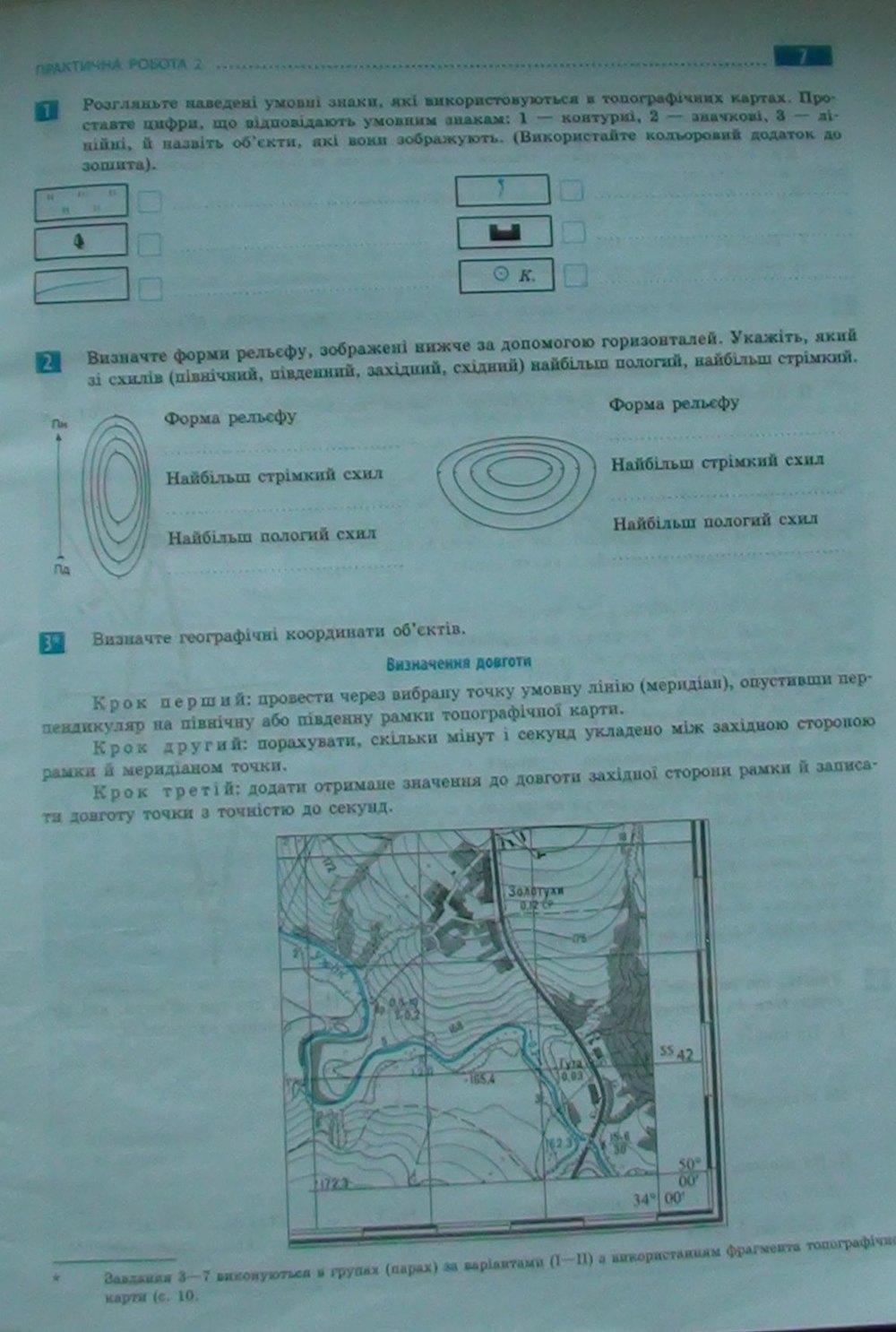 Клас гдз практичні 7 географія