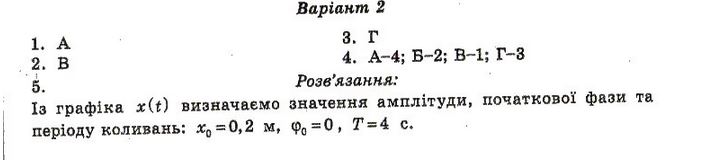 ГДЗ по физике 10 класс Чертіщева М. О., Вялих Л. І. Самостятельные работы. Задание: №10. Вариант 2(1)