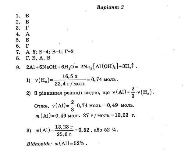 ГДЗ по химии 10 класс Ісаєнко Ю. В., Гога С. Т. Контрольные работы. Задание: №4. Вариант 2