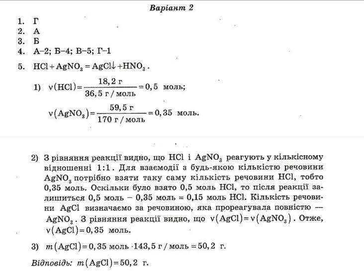 ГДЗ по химии 10 класс Ісаєнко Ю. В., Гога С. Т. Самостоятельные работы. Задание: №2. Вариант 2