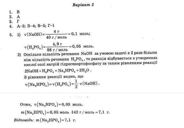 ГДЗ по химии 10 класс Ісаєнко Ю. В., Гога С. Т. Самостоятельные работы. Задание: №5. Вариант 2