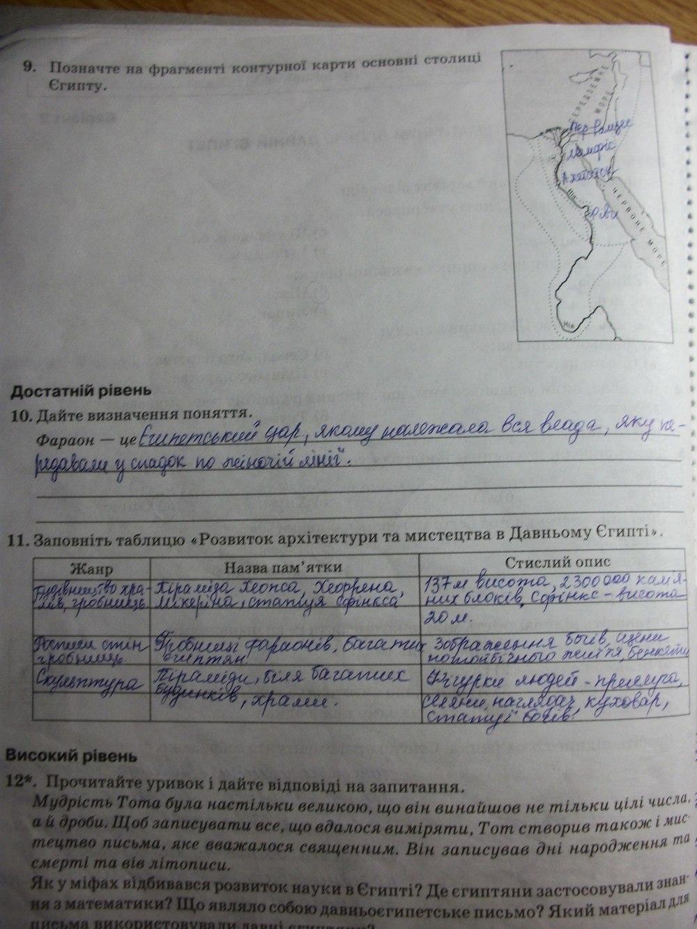 ГДЗ рабочие тетради 6 класс. Задание: стр. 10