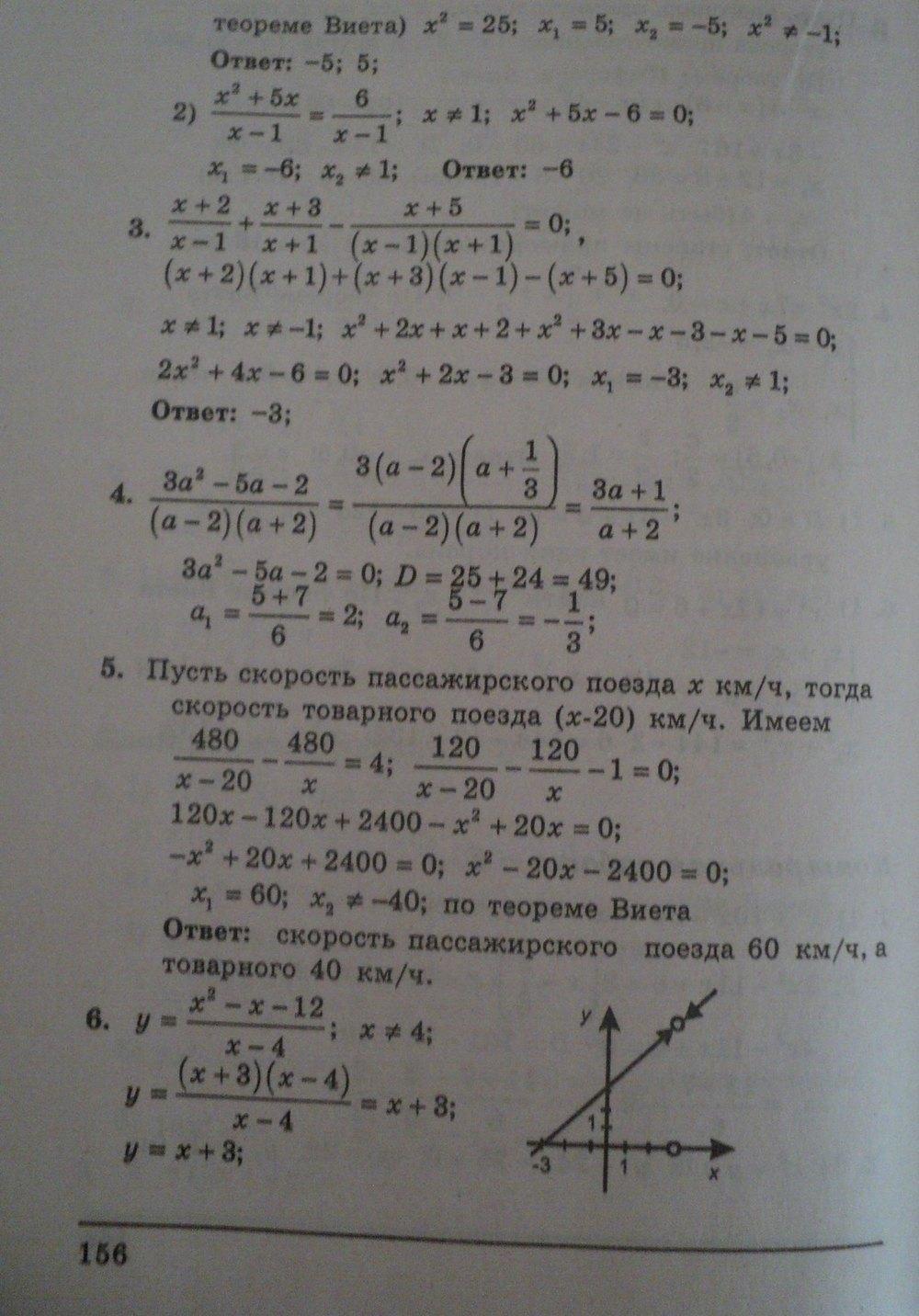 ГДЗ по алгебре 8 класс Щербань П.. Задание: стр. 156