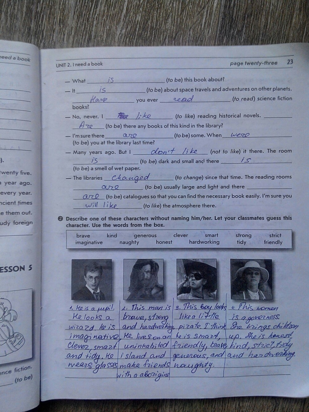 ГДЗ відповіді робочий зошит по английскому языку 8 класс О.М. Павліченко. Задание: стр. 23