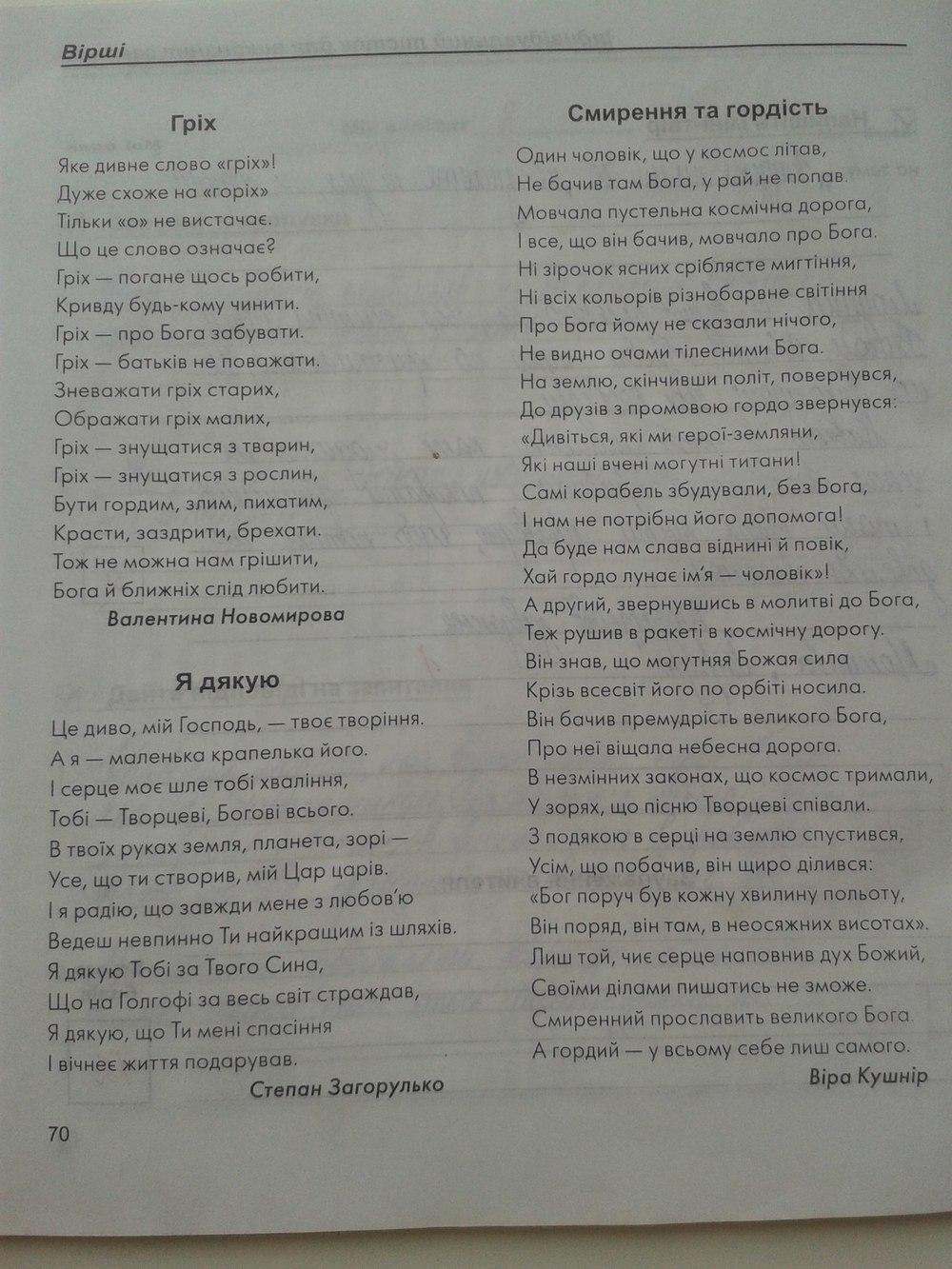 ГДЗ відповіді робочий зошит по этике 6 класс Г.О. Кізілова. Задание: стр. 70