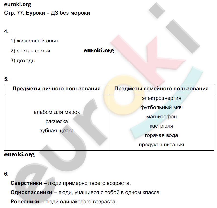 ГДЗ по обществознанию 5 класс рабочая тетрадь Иванова, Хотеенкова. Задание: стр. 77