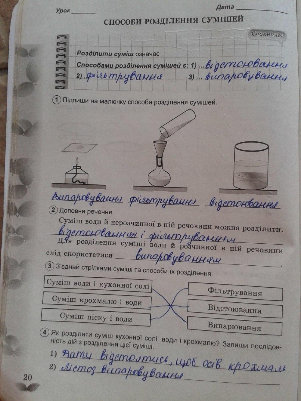 Гдз Природознавство Робочий Зошит 5 Клас Демічева