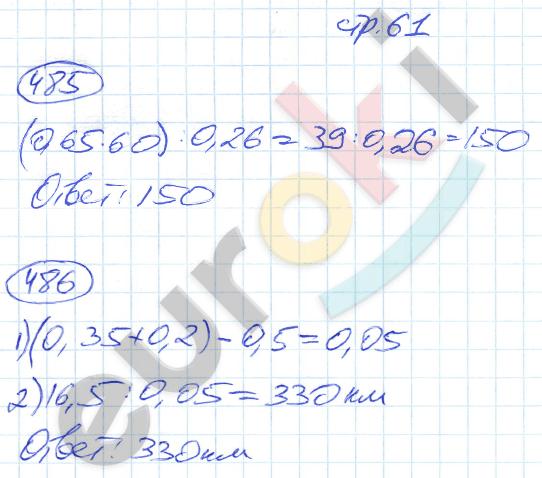 ГДЗ по математике 5 класс рабочая тетрадь Мерзляк, Полонский, Якир Часть 1, 2. Задание: стр. 61