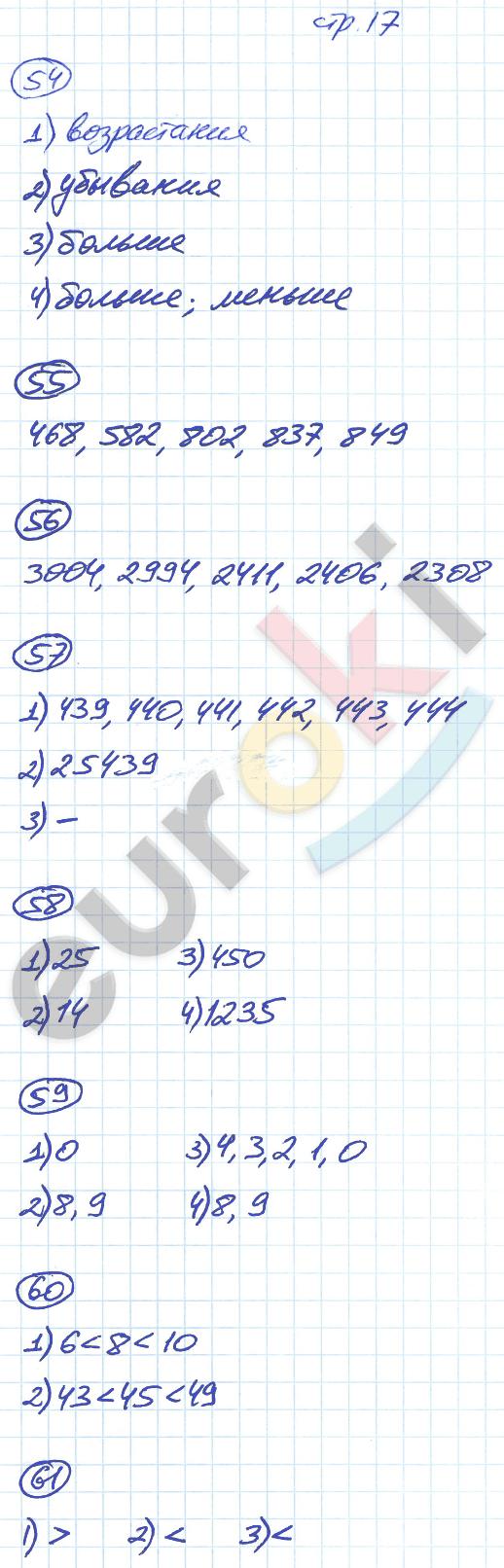 ГДЗ по математике 5 класс рабочая тетрадь Мерзляк, Полонский, Якир Часть 1, 2. Задание: стр. 17