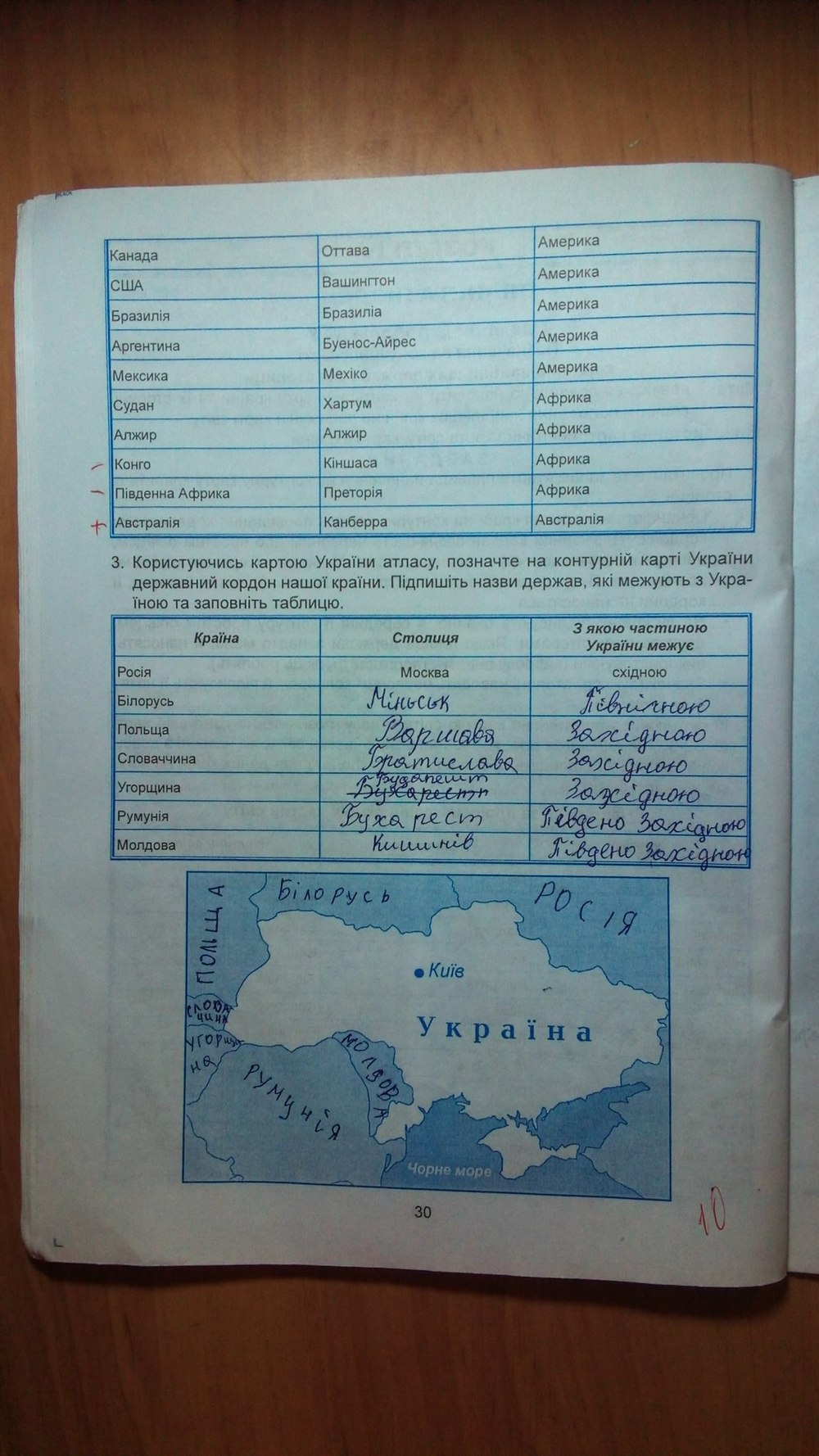 ГДЗ відповіді робочий зошит по географии 6 класс Кобернік С. Г., Коваленко Р. Р.. Задание: стр. 30