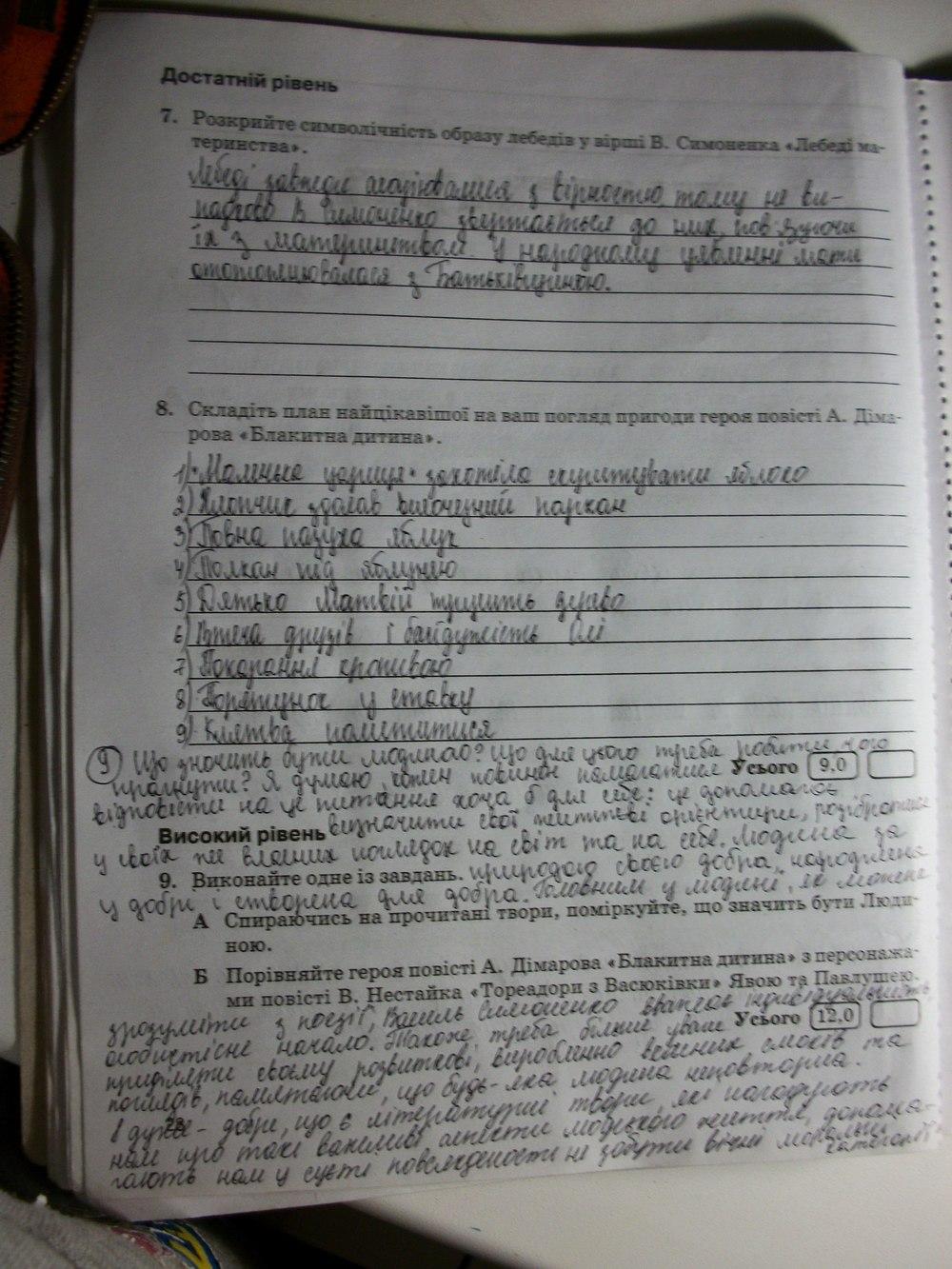 ГДЗ відповіді робочий зошит по литературе 7 класс Паращич В. В.. Задание: стр. 28