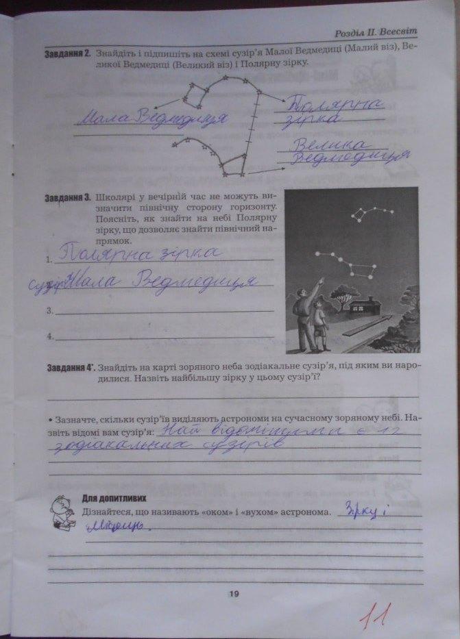 ГДЗ відповіді робочий зошит по биологии 5 класс Бітюк М.Ю., Віркун В.О., Гудзь В.В.. Задание: стр. 19
