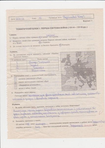 ГДЗ відповіді робочий зошит по истории 10 класс Раденко Т.В.. Задание: стр. 1