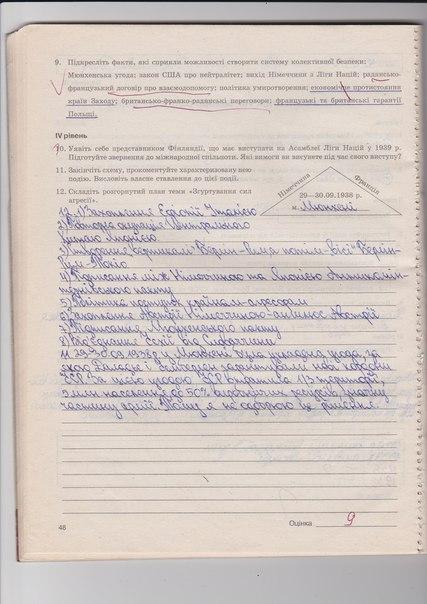 ГДЗ відповіді робочий зошит по истории 10 класс Раденко Т.В.. Задание: стр. 48