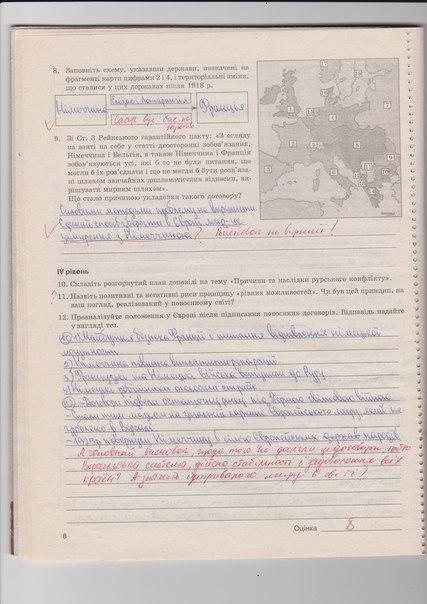 ГДЗ відповіді робочий зошит по истории 10 класс Раденко Т.В.. Задание: стр. 8