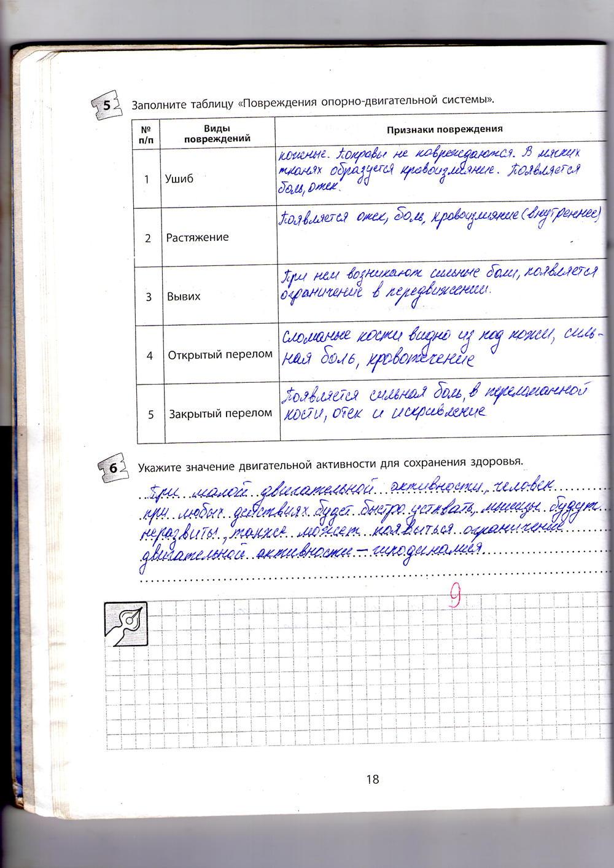 ГДЗ відповіді робочий зошит по биологии 9 класс Котик, Таглина. Задание: стр. 18