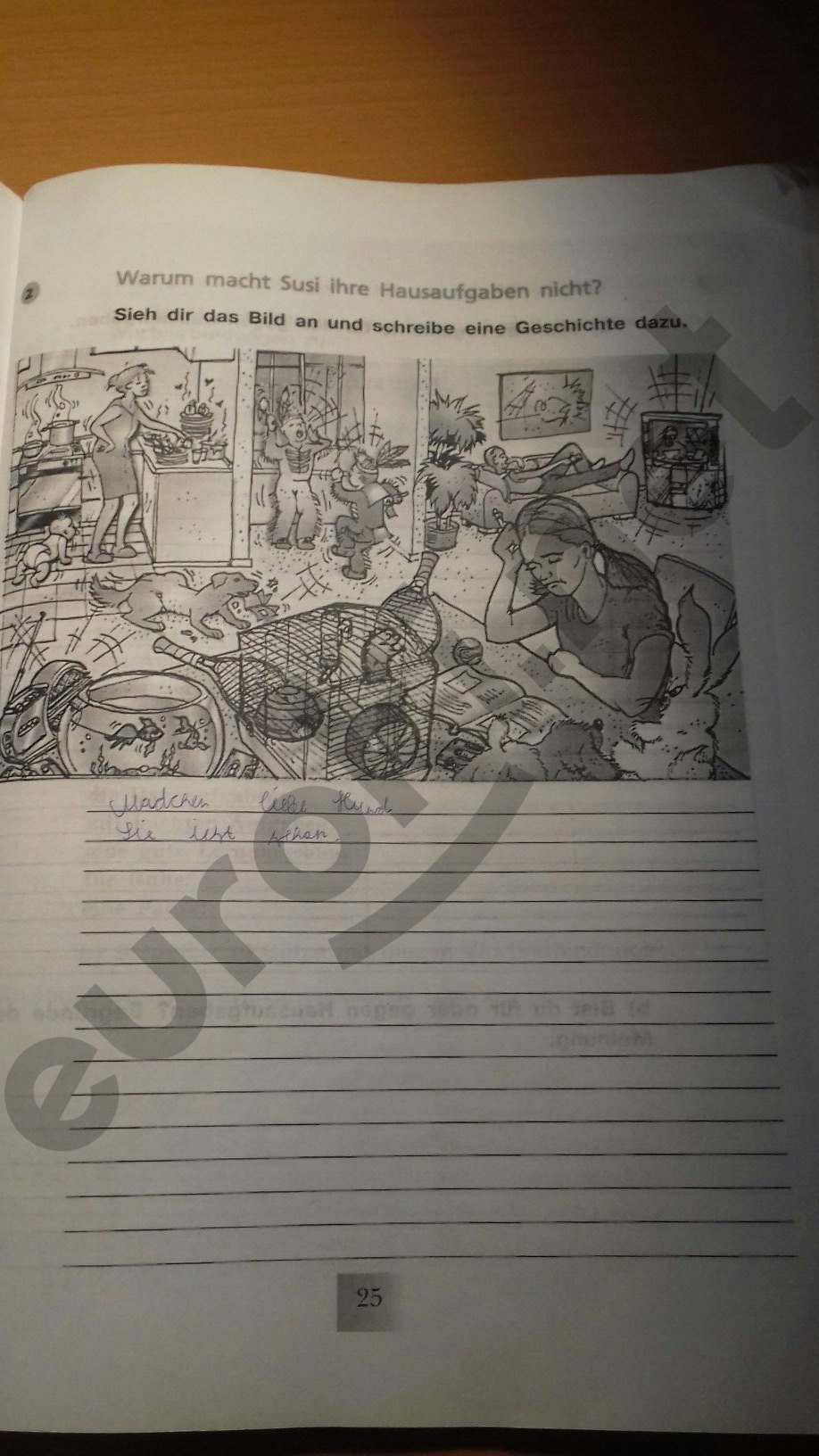 ГДЗ по немецкому языку 6 класс рабочая тетрадь Артемова. Задание: стр. 25